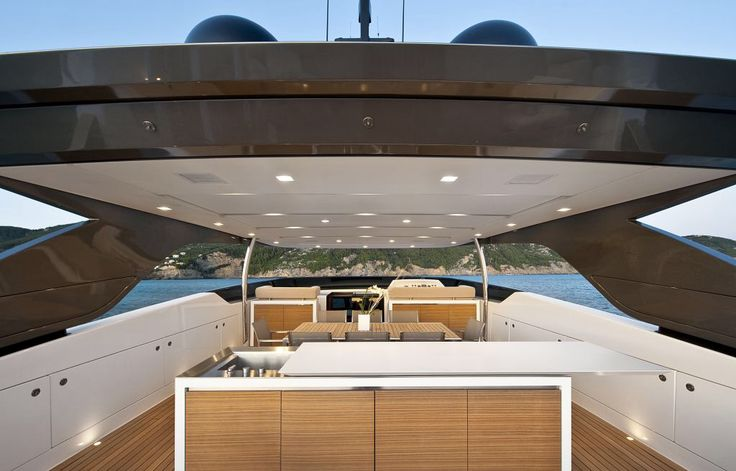 The yacht's above cabin kitchen. Nice!