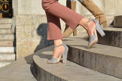 Building The Ultimate Closet: Crystals, Paris Fashion, Giuseppe Zanotti, Blue, Fashion Week, Street Style, Heels, I Spy, Style Blog