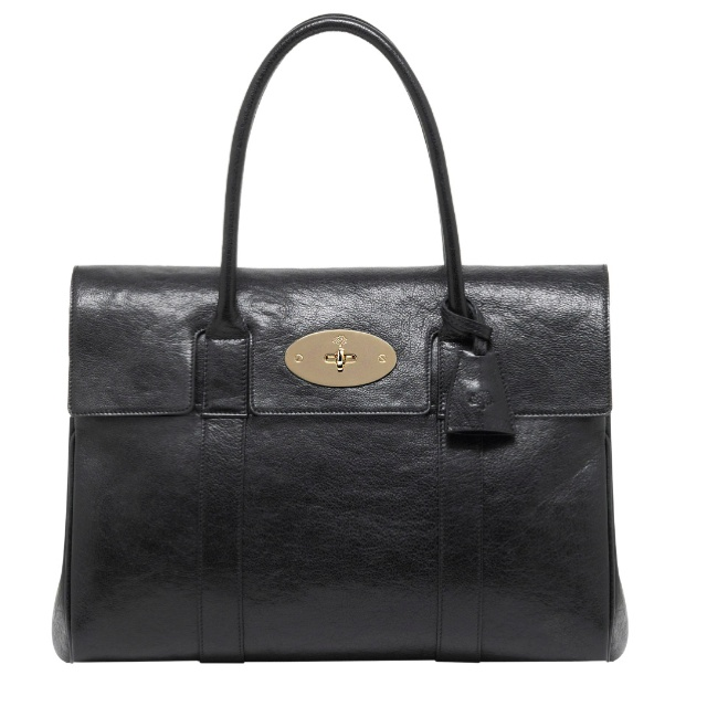 Bayswater in black buffalo shine by Mulberry