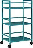 #ad Altra Marshall 3 Shelf Metal Rolling Utility Cart, Teal  Be creative with the different ways you can use the Altra Marshall 3 Shelf Metal Rolling Utility Cart. From the kitchen to  your home office, this Utility Cart converts any space to extra storage space. Casters on the bottom of the Cart provide easy mobility throughout your home. Three shelves provide plenty of room and easy access for your stored items. Use the Utility Cart in your office to provide a spot for books, binde..