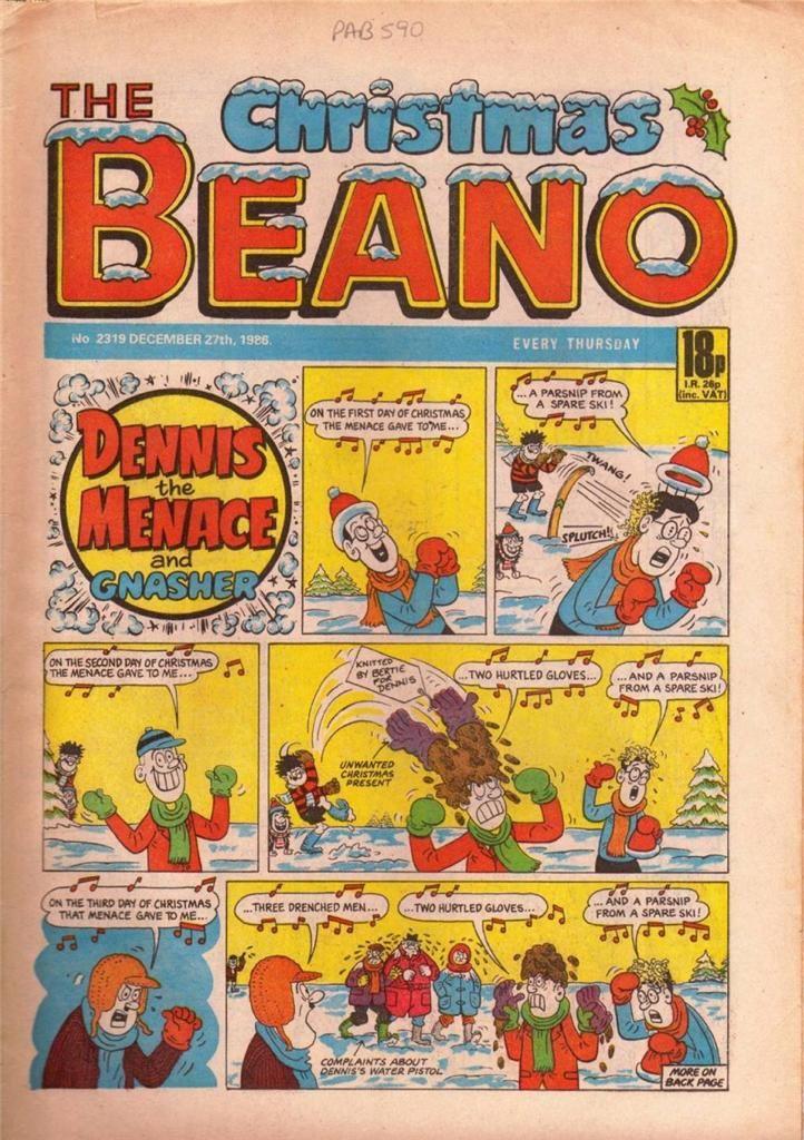 The Beano British Comic 1986 Cover - No 2319