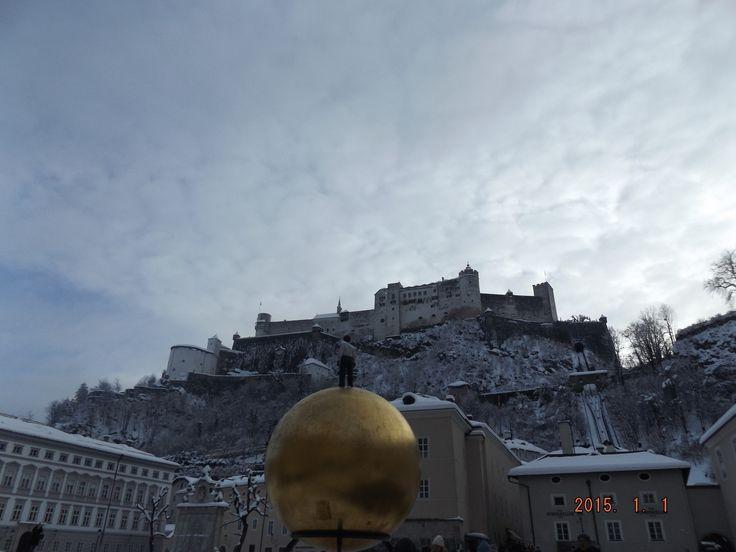 View of Festung Hohensalzburg from Kapitelplatz, Salzburg