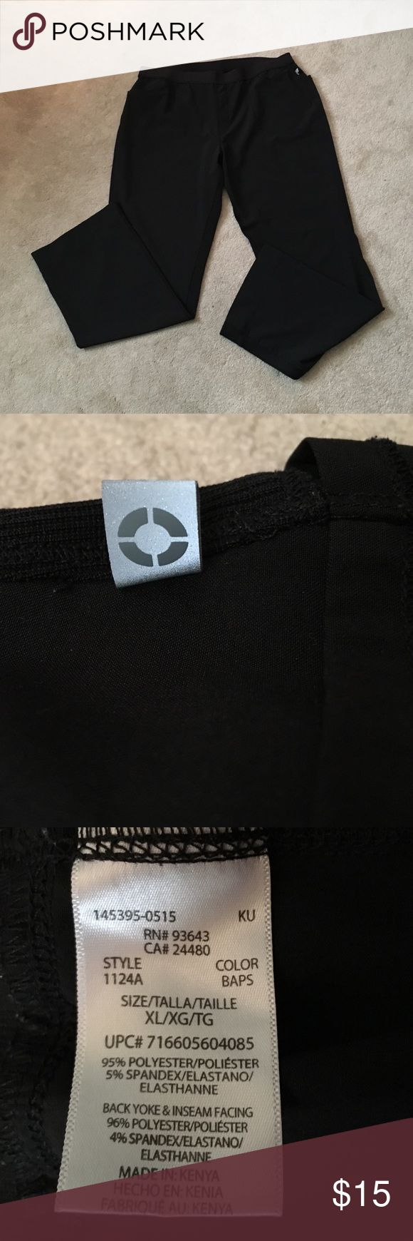 """Black Cherokee *Infinity* Scrub Pants These are by far the comfiest scrub pants I was able to find in my days in healthcare!!! I am no longer in the field so I'm selling my scrubs, but these are in LIKE NEW condition! Comfortable elastic waist. Last photo shows the material along the inner part of the leg. I can't stress how comfy these are all around. It's Cherokee's """"Infinity"""" line. Flowy, smooth material that you barely feel!! Smoke free home! I have an awesome black & pink scrub top…"""