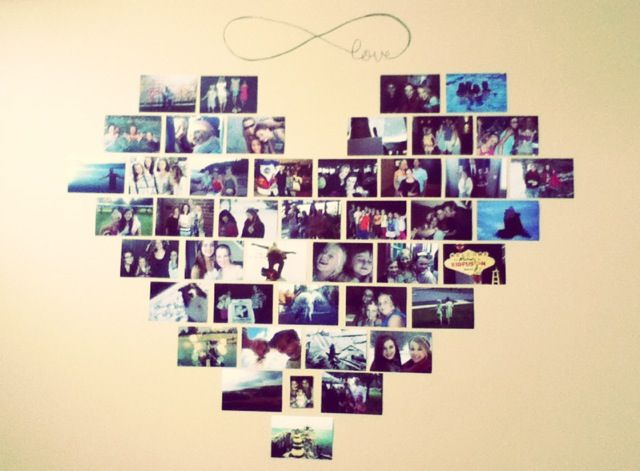 Bedroom ideas! Creative use of photography :) minus the infinity sign..