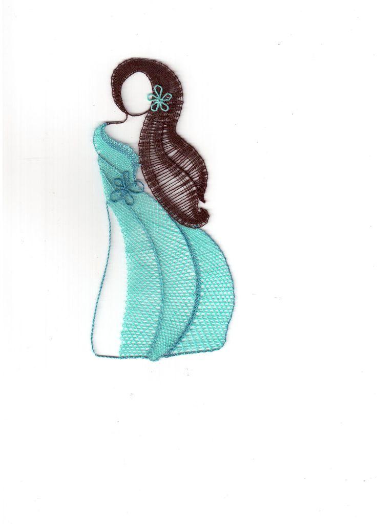 Tyrkysová, - paličkovaná krajka, bobbin lace, autor: Lenka Maslova Spetlova, Hostinné, Atelier ROS ZEFYRA s.r.o.
