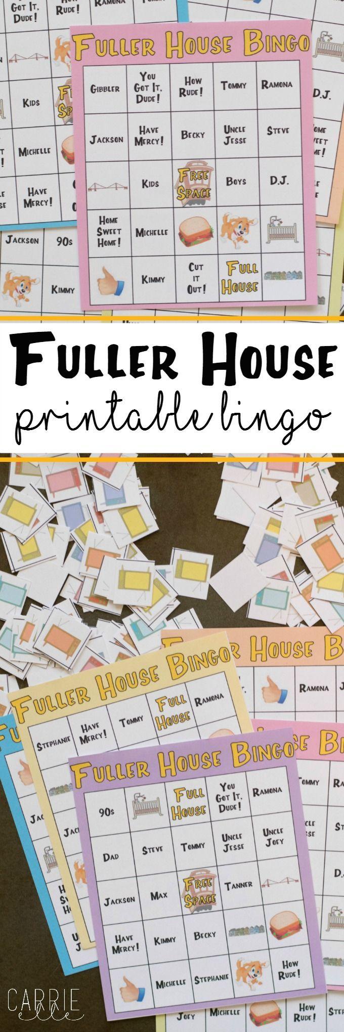 Printable Fuller House Bingo Game