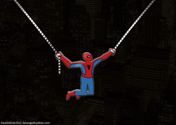 Spider-Man-Necklace - I love this idea! I would, of course, prefer it to be WW with her lasso!