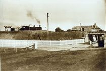 East Maitland Railway Station ca.1900. v@e.