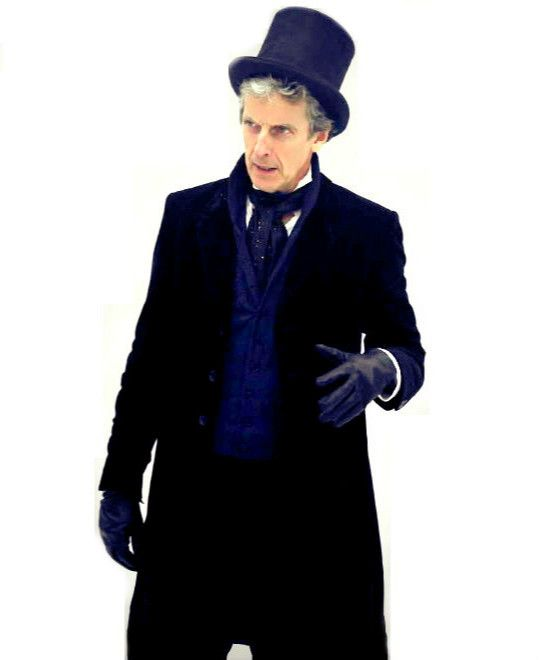 Peter Capaldi behind the scenes on DW Series 10. | [x]