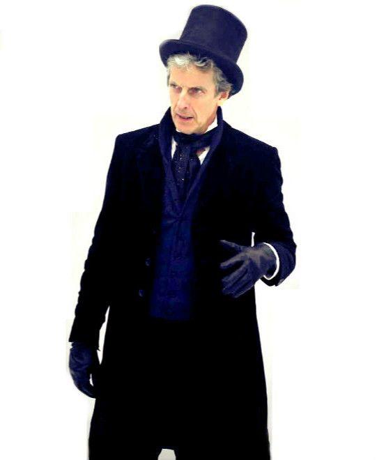 Peter Capaldi behind the scenes on DW Series 10. | [x]