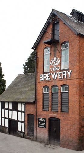 UKs Oldest Brewery (1642) - Bishops Castle, Shrewsbury. Famour for it's beers; the 'Three Tuns Pilgrims'