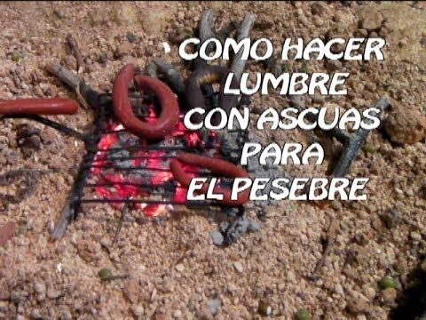 DIY  LUMBRE CON ASCUAS PARA TU BELEN - CAMPFIRE FOR THE BELÉN