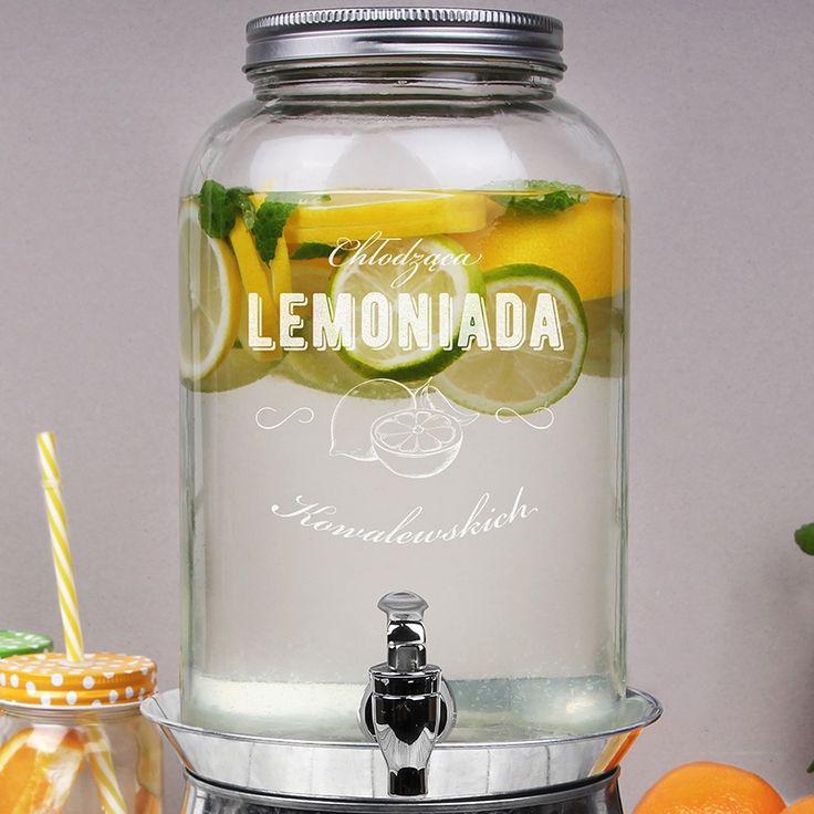Słój na lemoniadę z kranikiem CHŁODZĄCA LEMONKA
