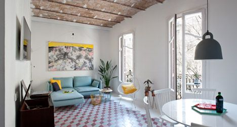 Renovated Barcelona Apartment By CaSA Features Vaulted Brick Ceilings And Colourful Floor Tiles | Decor10