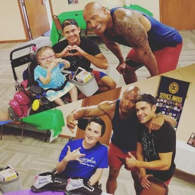 Hot: Zac Efron and The Rock Grant Two Children the Wish of a Lifetime