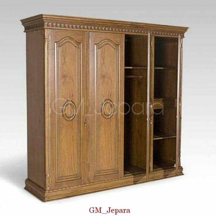 Lemari Pakaian Jati Queen, lemari 2 pintu, lemari 3 pintu, lemari jati minimalis, model lemari terbaru.