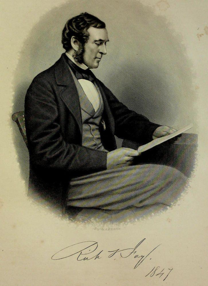 1888 Engraving Richard Sullivan Fay Essex County Lynn Mass. Genealogy History