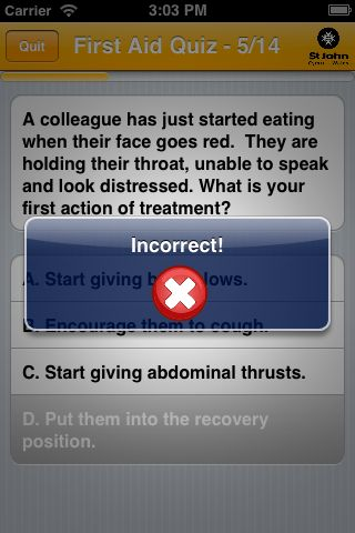 First aid quiz - download our free first aid app at www.stjohnwales.org.uk