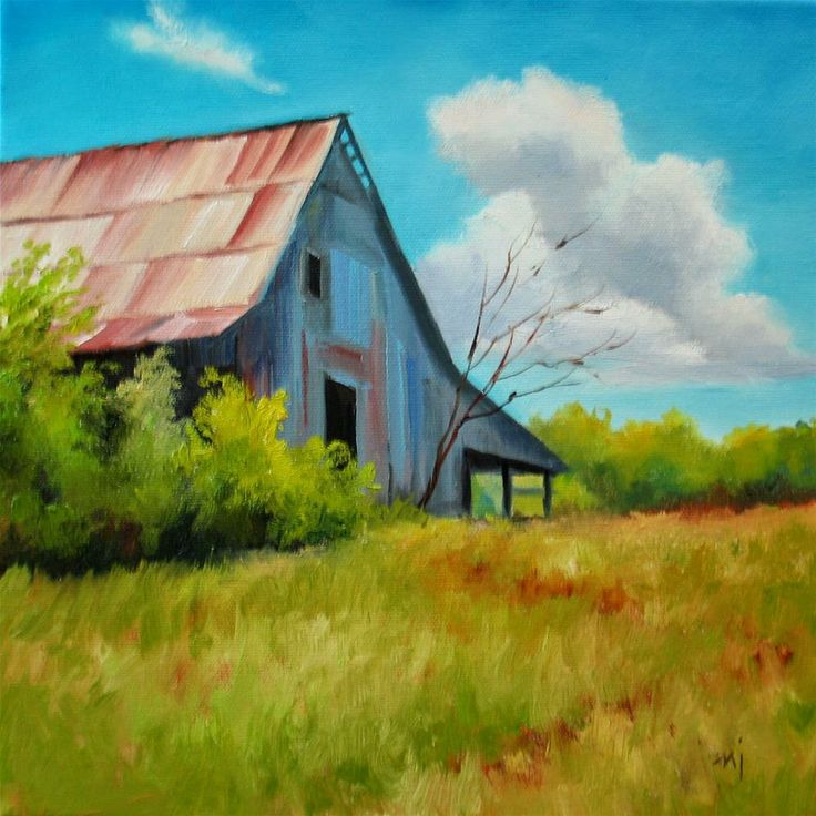 390 best images about pretty paintings barns old for Watercolor barn paintings