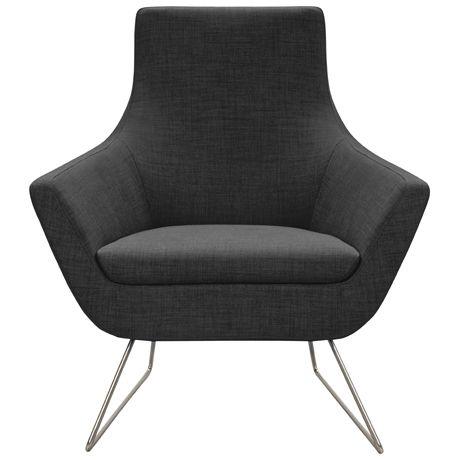 Chair Gallery:: Sleigh Chair Urban Coal