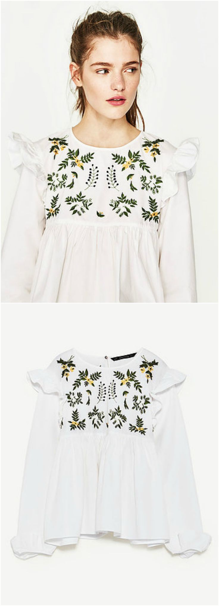 Nature Boho Top is now available at $35. A Boho Embroidery Top in White. This top exhibit brilliant design with unique embroidered patterns. We Love boho style and embroidery stitches. Free Spirit hippie girls sharing woman outfit ideas. bohemian clothes, cute dresses and skirts. Fashion trend and styles from hippie chic, modern vintage, gypsy style, boho chic, hmong ethnic, street style, geometric and floral outfits.