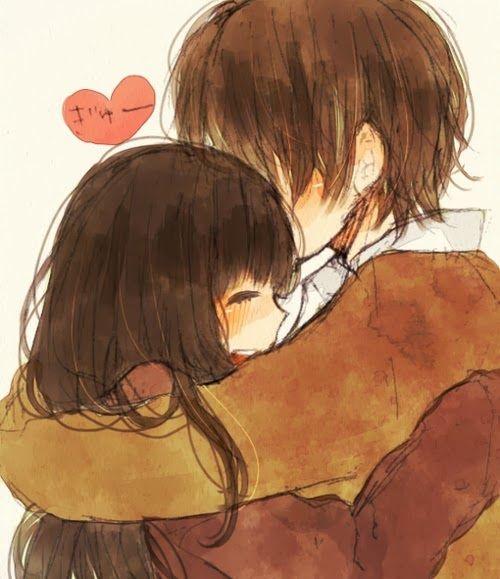 Relationship goals anime pinterest anime fan art - Anime hug pics ...