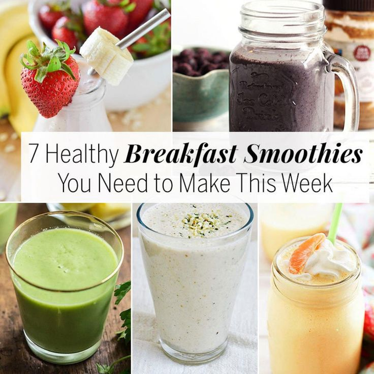 how to make a breakfast smoothie