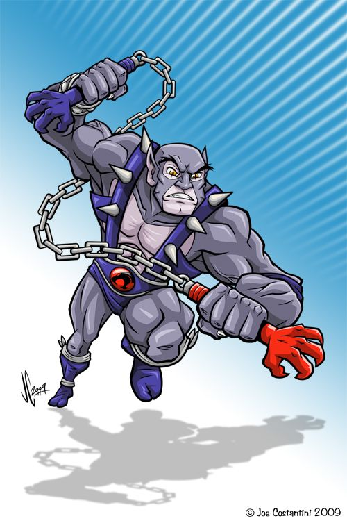 Panthro is the second eldest ThunderCat after Jaga (until Lynx-O is introduced), which meant that he was the oldest ThunderCat when they first landed on Third Earth. Description from atomicthinktank.com. I searched for this on bing.com/images
