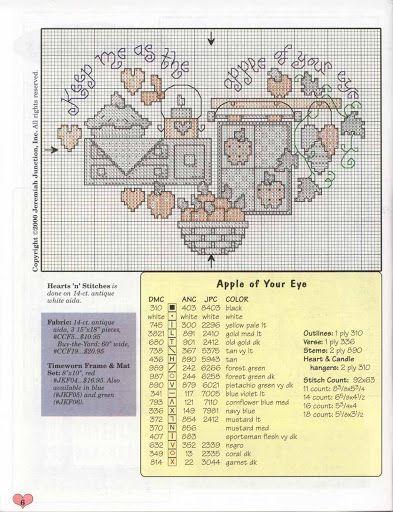 Cross-stitch Apple of my Eye...   esquemas a punto de cruz  Hilquias Oliveira