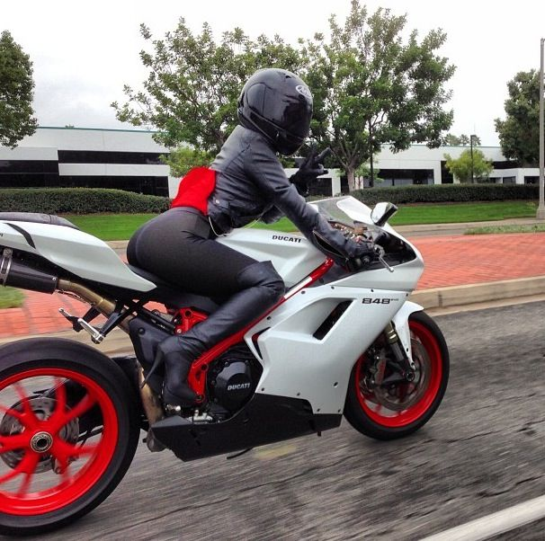 Ducati 848 Evo...It probably would not hurt my feelings to not be in the lead on this ride..