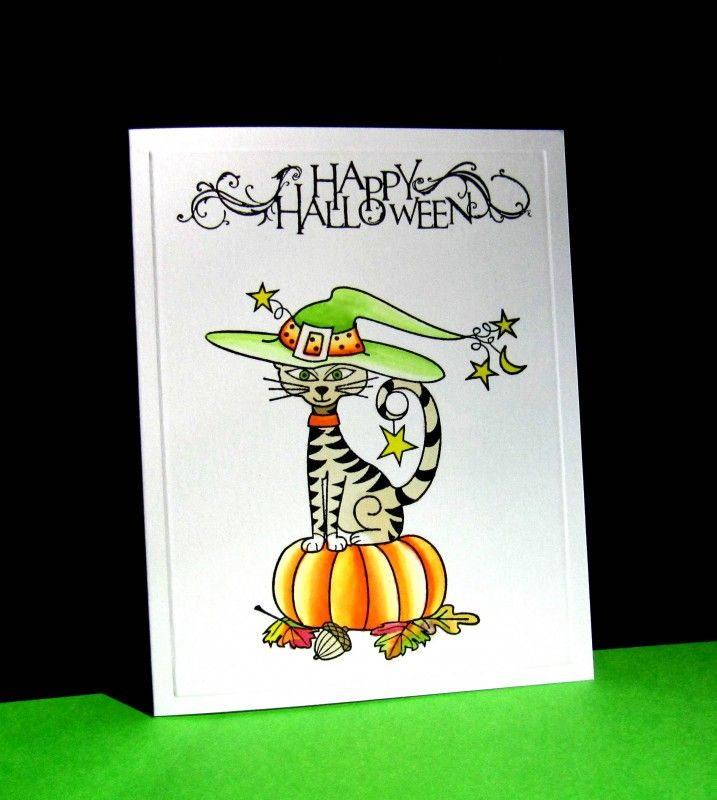 CAS396 Witchy Kitty by catluvr2 - Cards and Paper Crafts at Splitcoaststampers