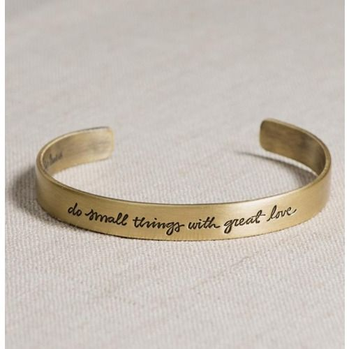 """""""Do Small Things with Love"""" Mother Teresa quote Bangle Bracelet"""