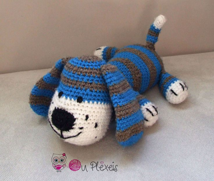 Dog Amigurumi, Crochet Dog Stuffed Animal, Kids Toy, Nursery Toy, Dog Plush Amigurumi Crochet Stuffed Animal, Baby Sleeping Toy, by Ouplexeis on Etsy