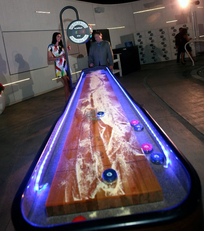 Lit Shuffleboard Table