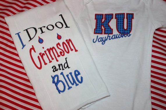 University of Kansas Jayhawks baby gift onesie and by stephstowell, $28.00