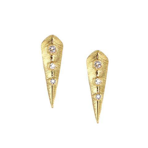 BRAVE STUD EARRINGS - SWAROVSKI & GOLD | Buy So Pretty Jewelry Online & In Stores
