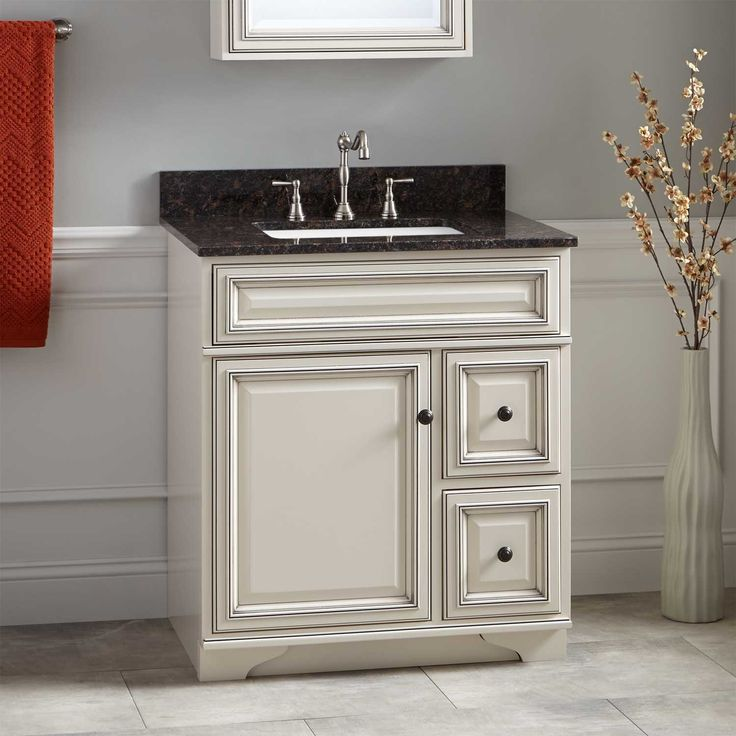"28 Antique White Kitchen Cabinets Ideas In 2019: 30"" Misschon Vanity For Rectangular Undermount Sink"