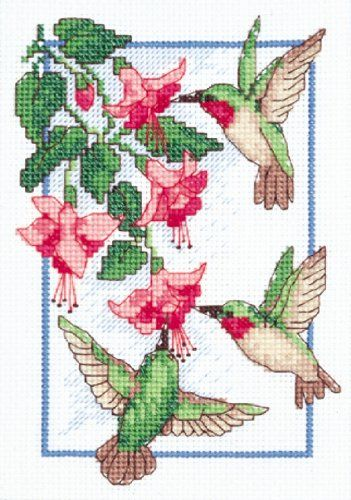 Hummingbird Cross Stitch Patterns might make a nice painting