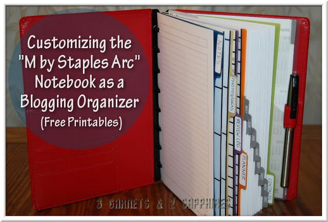 build your own planner or notebook using staples arc binding system