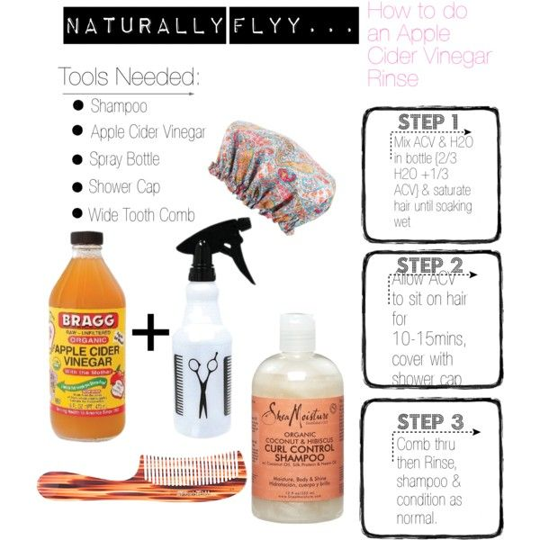 """Naturally FLYY...How To Do An Apple Cider Vinegar Rinse"""