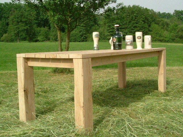 Luxury Hochwertiger Eichenholz Gartentisch Eichentisch Eiche Tisch in Garten u Terrasse M bel Tische eBay Diy Aufbewahrung Pinterest
