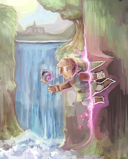Art inspired by The Legend of Zelda: A Link Between Worlds. Art created by Lunaros