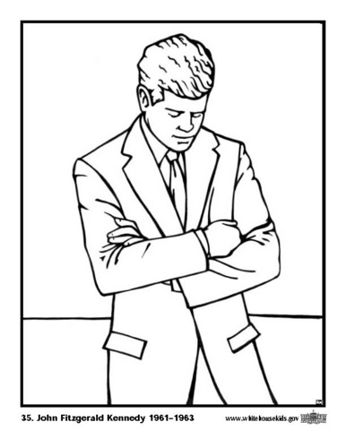 find this pin and more on famous people coloring pages free printable president john f kennedy