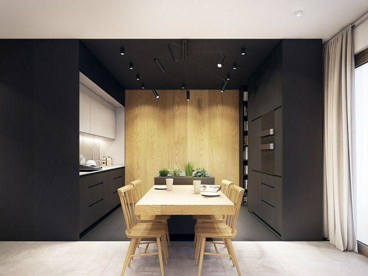 17 meilleures id es propos de plafond noir sur pinterest for Deco cuisine noir et bois