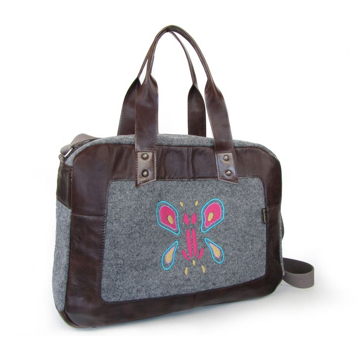 felt+natural leather+ decorative embroidery