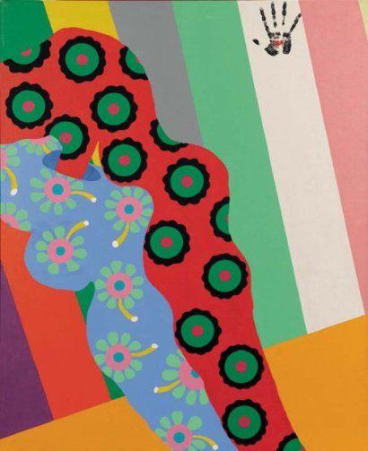 Faire l'amour à Pekin n°5, 1966 Huile sur toile Signée, datée et titrée au dos 162 x 130 cm
