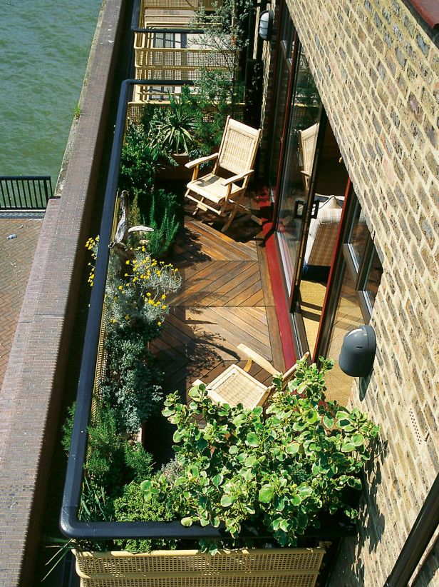 Planted Balcony Looks Inviting from Inside House