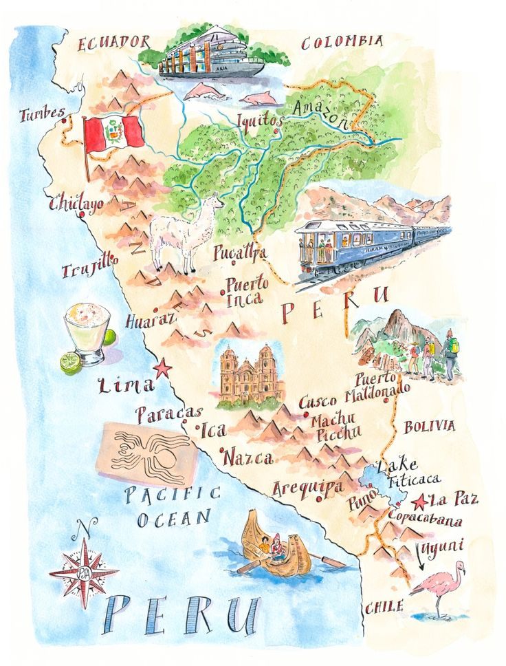 Map of Peru by Michael Hill | PlanSouthAmerica | The Travel Specialists