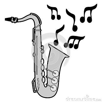 Posible dibujo que utilice como base ara el pictograma del saxofón, aunque tendré que restarle iconicidad.