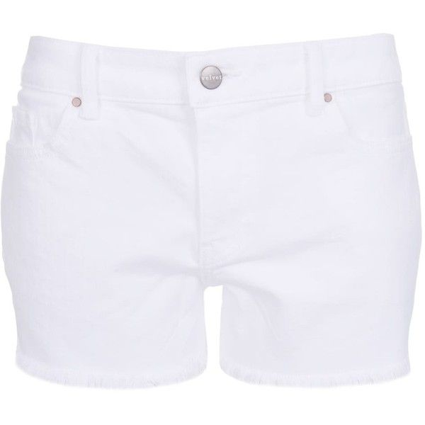 Velvet by Graham & Spencer Cindy White Denim Shorts (3.590.105 IDR) ❤ liked on Polyvore featuring shorts, white, white shorts, white jean shorts, short jean shorts, short denim shorts and white denim shorts